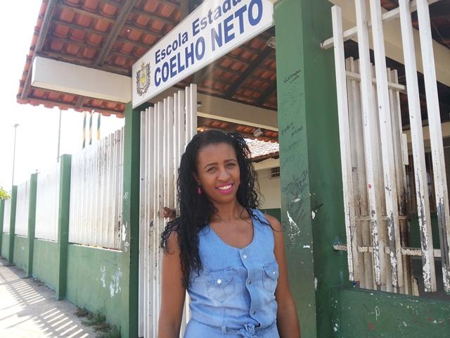 Nerilene Ferreira quer cursar arquitetura. Tentando manter a callma