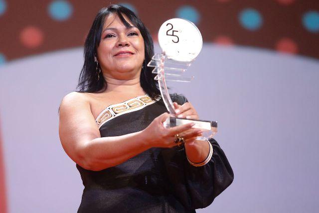 Patrícia em 2014, vencedora do 25º Prêmio da Música Brasileira