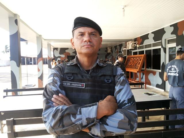 Tenente coronel Jackson Rodrigues: trabalho pesado