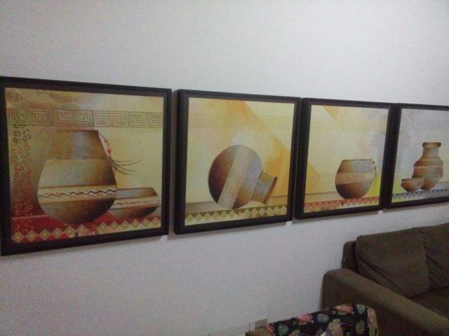 Cerâmica também está presente em suas pinturas