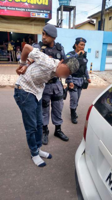 Davizinho tirou essa foto do comparsa sendo preso após assalto frustrado
