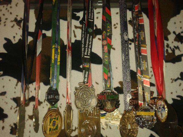 Coleção de medalhas conquistadas