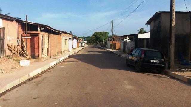 Algumas ruas foram asfaltadas pela prefeitura