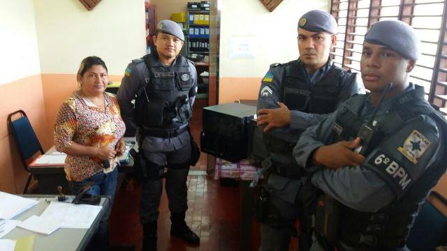 Policiais esperaram amanhecer para dar destino aos objetos furtados
