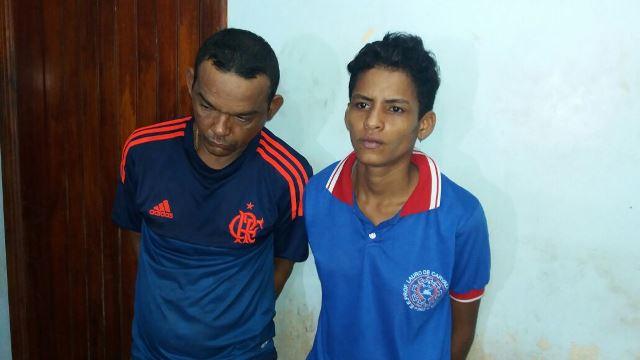 À direita, Tamires usava uniforme da escola Lauro Chaves quando foi presa. Fotos: Olho de Boto