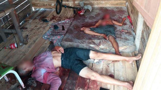 Cenas de violência dentro do barraco. Fotos: Olho de Boto