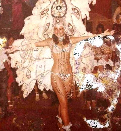 Sandra Ohana em 1986, como Rainha das Rainhas. Foto: Arquivo/Trem
