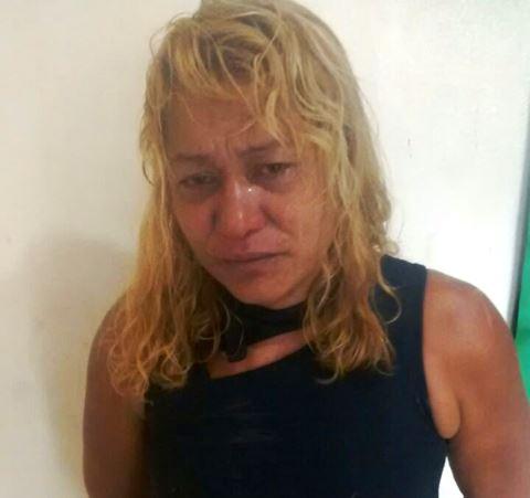 Vânia Maria presa na delegacia de Serra do Navio: briga por DVD
