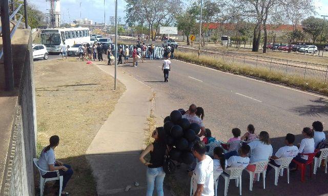 Docentes e servidores também construíram a mobilização, junto com estudantes. Foto: Manoel do Vale