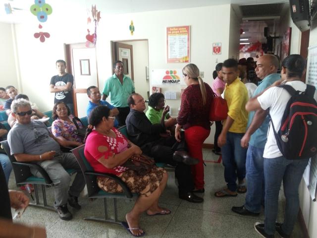 Voluntários compareceram ao Hemoap em dia de ação. Fotos: Cássia Lima