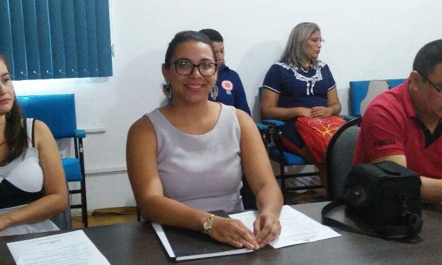 Coordenadora Administrativa do Comsems, Daniela Pinheiro: