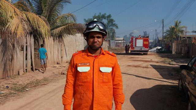 Tenente Solamar Moraes: casa quase foi consumida pelo fogo
