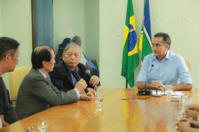 Encontro em setembro entre investidores chineses e o governador do Amapá, Waldez Góes. Foto: Secom