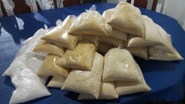 Farinha de tapioca e comum que serão levadas para SP