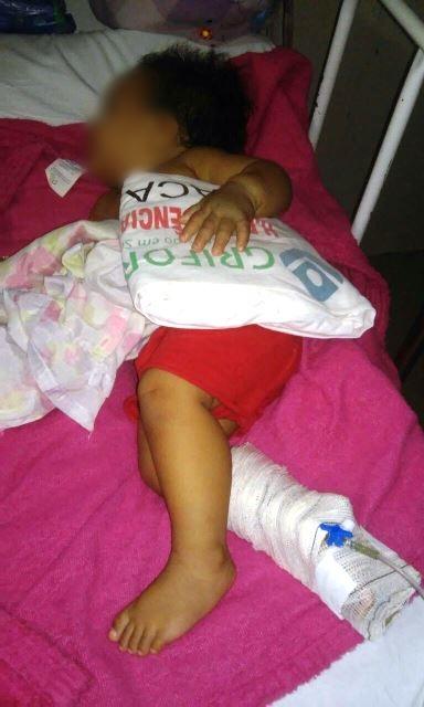 Conselho Tutelar tenta um novo leito para a criança por causa do calor no HE. Foto: Divulgação