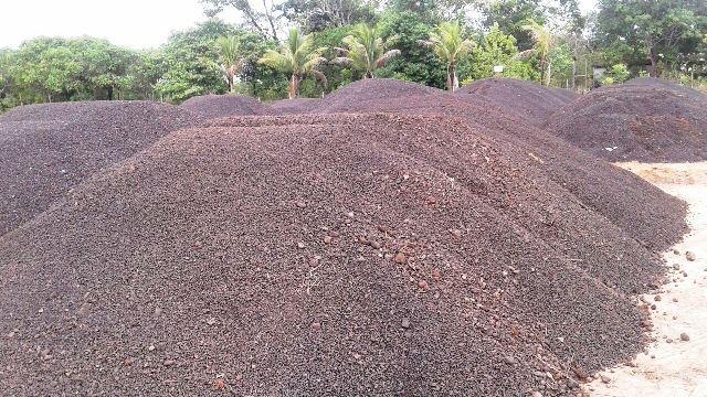Terreno já recebeu 38 toneladas do minério. Foto: MP/Divulgação