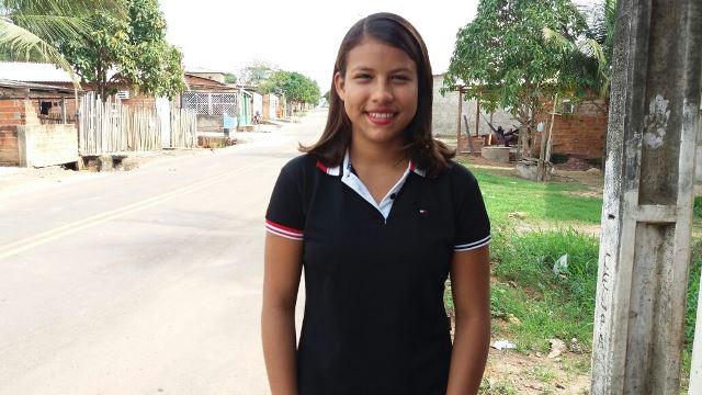 Diane Patrícia, do curso de mineração, gasta R$ 11 por dia