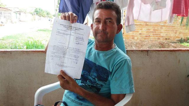 Paulo Ronaldo, presidente da Associação de Moradores: pedido não atendido. Fotos: André Silva