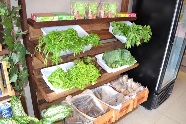 Hortaliças orgânicas em parceria com Seu Domingos