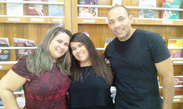 Maria com os pais Neli e Marco