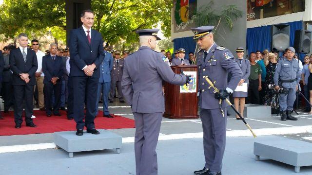 O coronel Rodolfo Pereira (direita) pretende dar continuidade ao trabalho de seu antecessor. Fotos: Fernando Santos