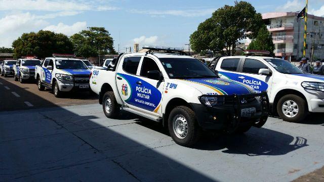 30 novas viaturas foram entregues pelo governador, Waldez Góes, durante a cerimônia