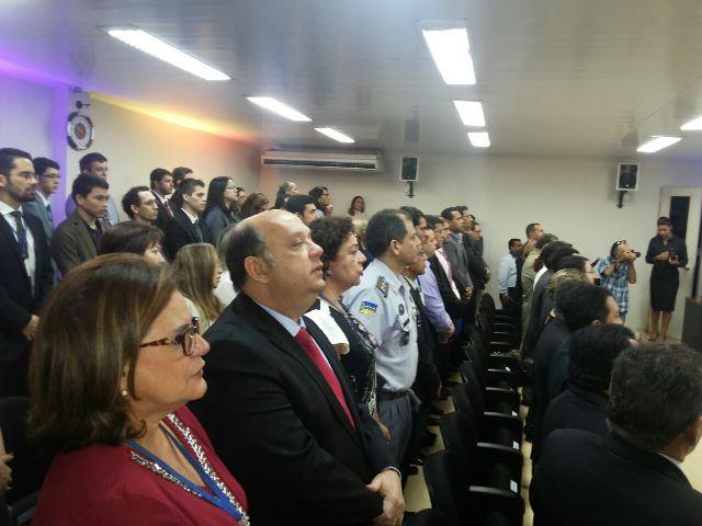 Autoridades participaram da cerimônia de posse de Ricardo Soares
