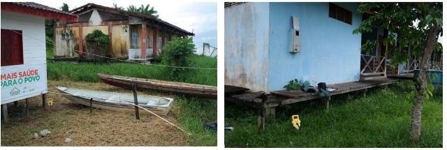 Escola e posto que também estão ameaçados, segundo instituto. Fotos: divulgação Iepa