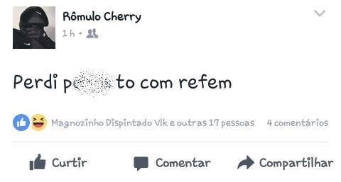 """Pelo Facebook, bandido avisa que """"perdeu"""""""