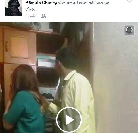 Bandido transmitiu assalto pela rede social