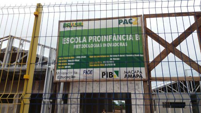 Obra de creche parada na zona sul de Macapá. Foto: André Silva