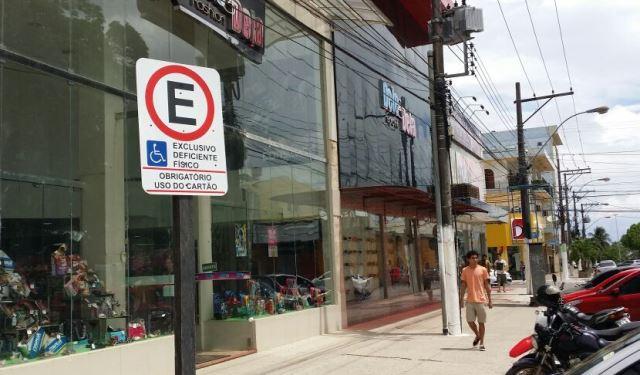 Local é reservado para cadeirantes. Foto: Osvaldo Júnior