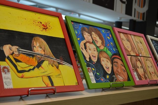 Personagens e artistas da cultura pop compõem a exposição