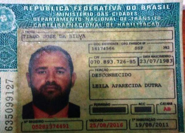 Polícia Civil ainda não sabe se os dados da CNH pertencem mesmo ao suposto Tiago Silva