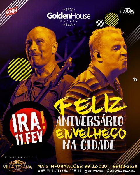 Banner oficial do show em Macapá, marcado para o dia 11