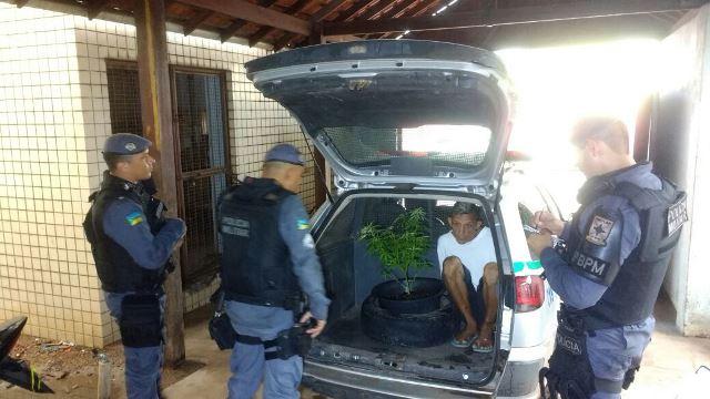 Carlos Santos chega ao Ciosp com os vasos