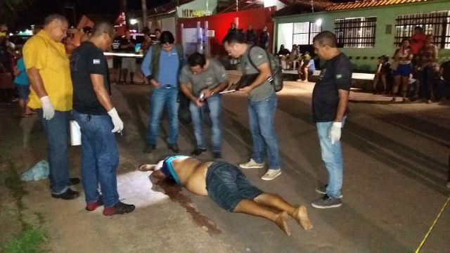 O corpo foi removido pela Politec apenas 3 horas depois do crime