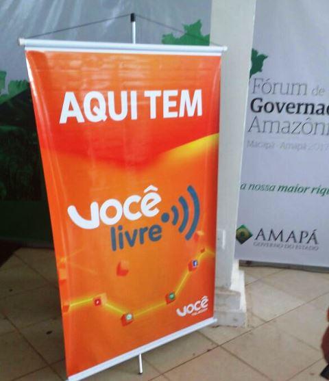 Internet livre no Ceta Ecotel, onde os governadores se encontraram pela manhã