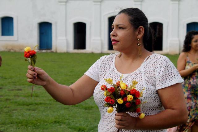 Marina Beckman, durante apresentação. Fotos: Paulo Rocha