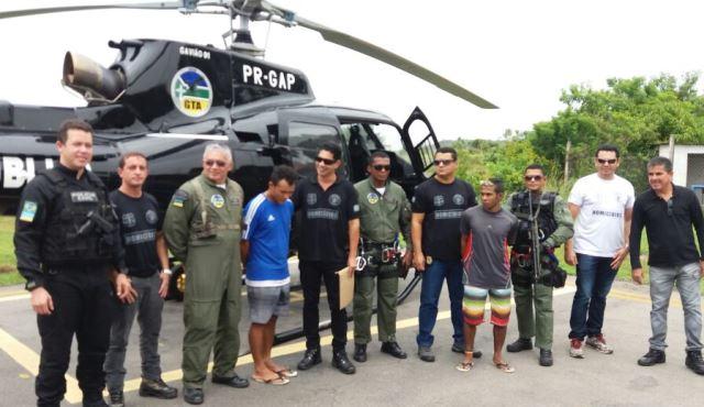 Equipe do GTA que recambiou os criminosos para Macapá. Fotos: Olho de Boto
