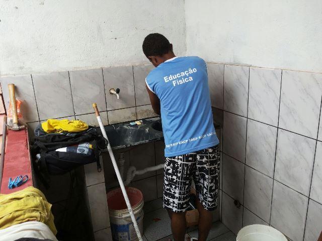 Manutenção do local é feita pelos próprios internos