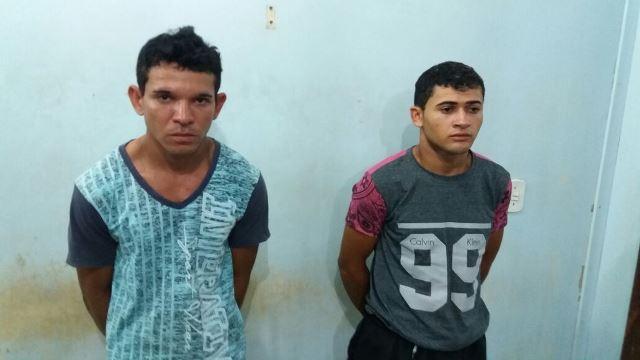 Os dois acusados não tinham passagens anteriores, mas confessaram assaltos. Fotos: Olho de Boto