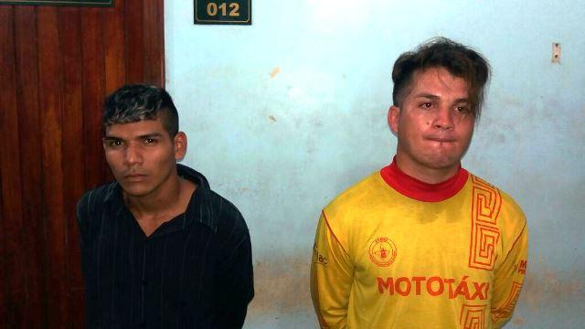 Bruno (esquerda, de preto) foi preso no dia 18
