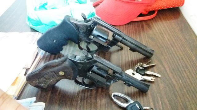 Armas do assaltantes...