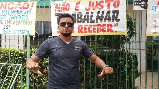 Daniel Araújo: colegas estão com dificuldades para pagar contas