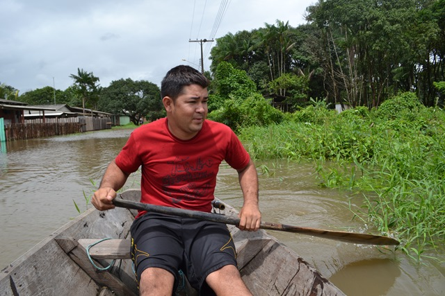 Pescador Enrique Oliveira: esposa e filhos foram para a casa de parentes