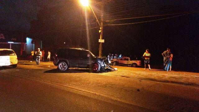 Jeep começou a fugir ainda na Rua Cândido Mendes