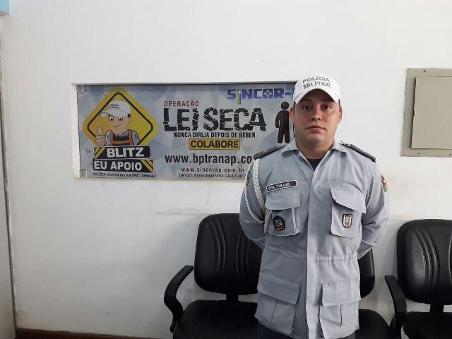 Tenente Túlio, do BPTran: luta contra a embriaguez ao volante continua