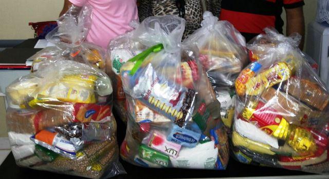 Alimentos entregues são arrecadados em eventos e também por meio de doações voluntárias