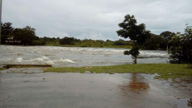 Rio Calçoene voltou a transbordar. Fotos: Patrícia Costa